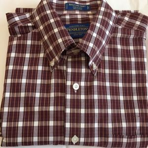 Pendleton Boulevard Shirt Long Sleeves 100% Cotton
